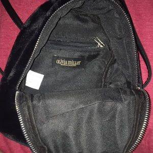 Olivia Miller Bags - Mini faux fur back pack